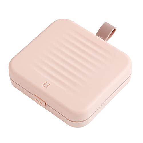 Tiffasha Kit de Costura de Viaje, (12,311x3,3 cm) Almacenamiento magnético DIY Agujas de Coser a Mano Hilo pequeños Accesorios de Costura portátiles Set para Viajes a casa Emergencia(Pink)