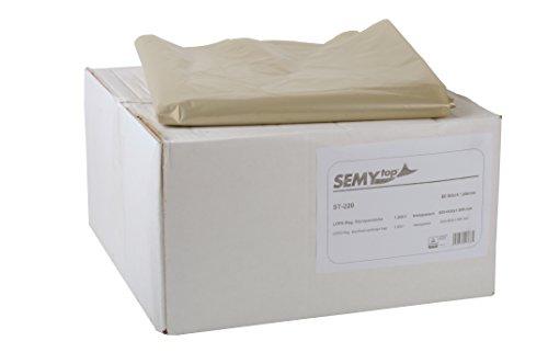 SemyTop ST-220 LDPE-Regenerat Styroporsäcke, Transparent, Typ 80, circa 1000 l, 50 Stück