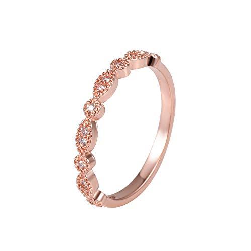 Anel de morganita Aisamaisara vintage em ouro rosa 18 quilates casamento noiva feminino joia tamanho 6 – 10 # 9 (6)