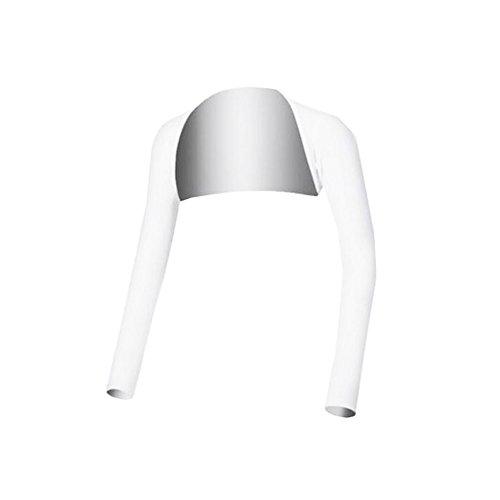 Black Temptation Golf-Bekleidung Shirts Damen Golf-Bekleidung Sonnenschutzkleidung Wraps Weiß Größe M