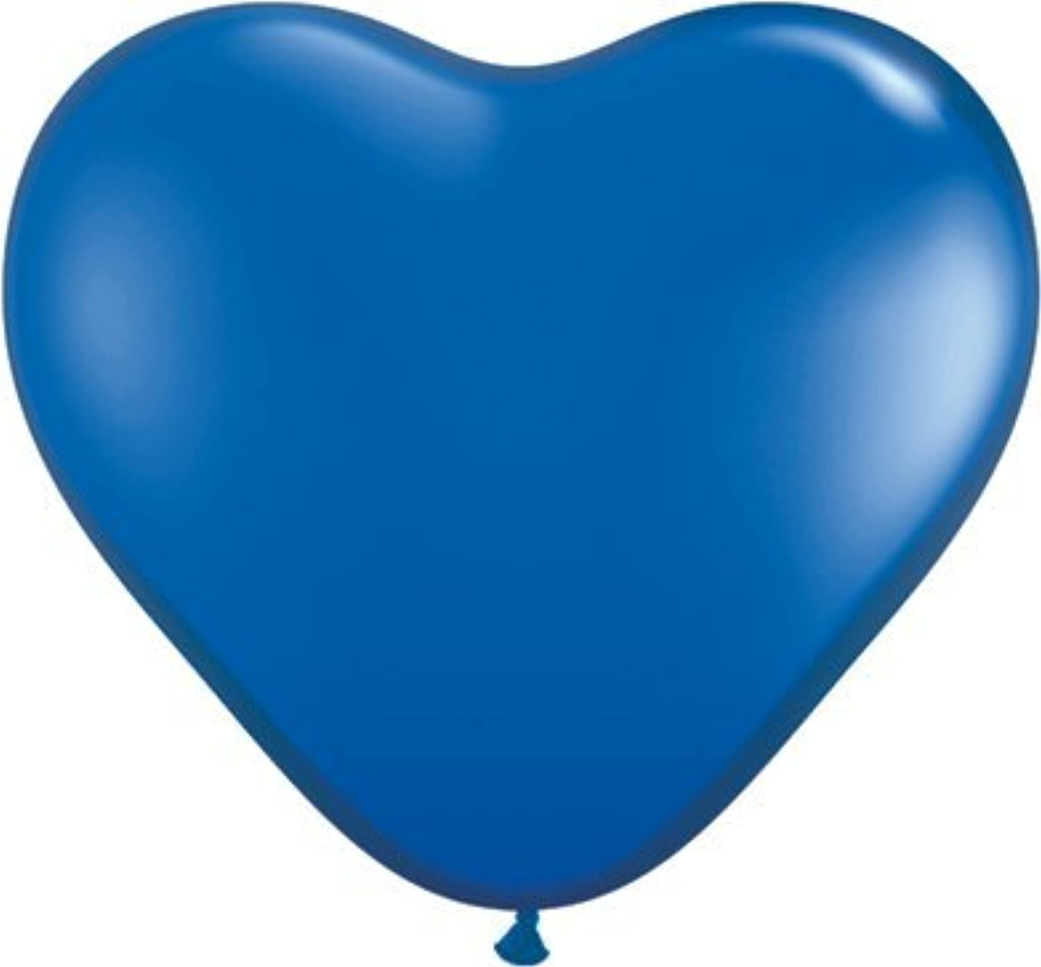 Jewel Sapphire bluee 6 Latex Hearts Qualatex Balloons x 25 by Qualatex