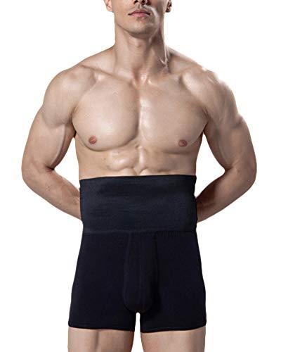 DianShaoA Herren Body Shaper Boxershorts Figurformende Unterwäsche Unterhose Mit Bauchweg Effekt Für Sport Training Schwarz S