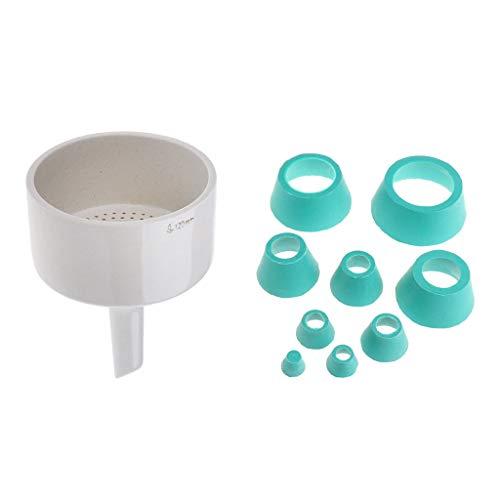 Labor Gummistopfen Bungs Flaschen Stoppe + 120mm Büchner-Trichter Buchner Filterung Laborbedarf