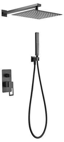 Conjunto de ducha empotrado Imex Suecia Negro BDC032-6-NG