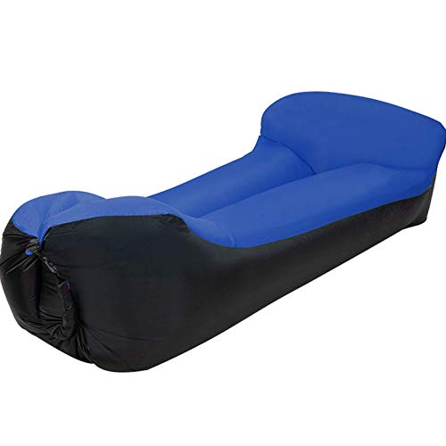 NDYD Sofá Inflable, 190X70X50CM, Anfibio, Anti-vuelco, Antideslizante, 300KG de Carga, Conveniente for al Aire Libre, Viaje, Parque DSB (Color : Dark Blue)