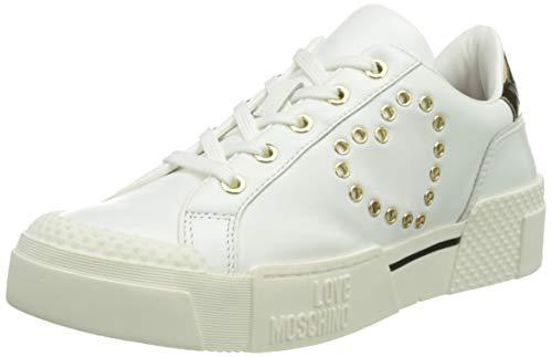 Love Moschino Damen, Schuhe, Kollektion Frühling Sommer 2021, Bianco - Größe: 40 EU