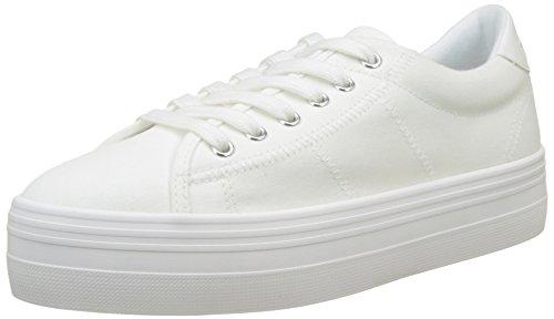 Unbekannt No Name Plato Sneaker Canvas, Damen Flach, Weiß - Blanc (White Fox White) - Größe: 40