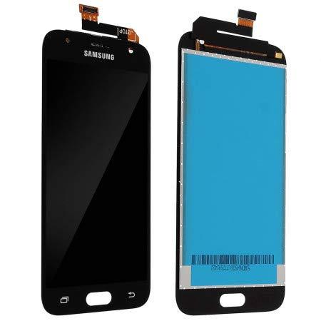 Electronic Evolution Schermo LCD Display + Touchscreen + Vetro per Samsung J3 2017 J330 SM-J330F J330FN Ricambio Assemblato Nero Black