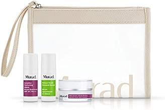 Murad Youth Boosting Travel Trio | Retinol Serum, SPF 30 Primer, Moisturizer + Toiletry Bag | 3-Piece Set