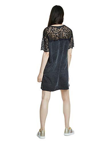 Desigual Vest_Champions Vestido, Negro (Negro 2000), Large para Mujer