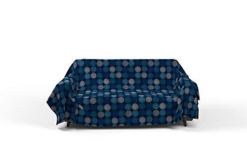 Italian Bed Linen Fantasy Ipnotic Telo Copritutto Stampato 2 Posti, Microfibra