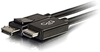 C2G 10ft DisplayPort to HDMI Adapter Cable - Black - DisplayPort/HDMI for Notebook, TV, Projector, Audio/Video Device - 10 ft - 1 x DisplayPort Male Digital Audio/Video - 1 x HDMI Male (Renewed)