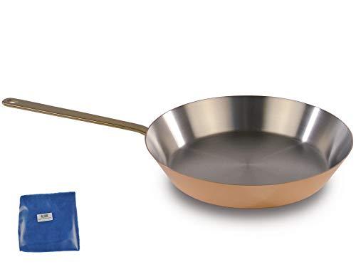 Kupfermanufaktur Weyersberg Kupfer Stielpfanne Bratpfanne Edelstahl Classic ohne/mit Deckel + Prymo Ausführung ohne Deckel, Größe 12 cm