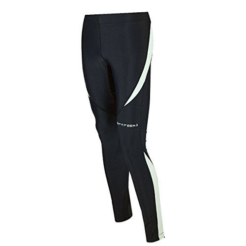 Airtracks Winter Funktions Laufhose Lang Pro/Damen oder Herren/Thermo Running Tight/Atmungsaktiv/Reflektoren - schwarz - L - Damen
