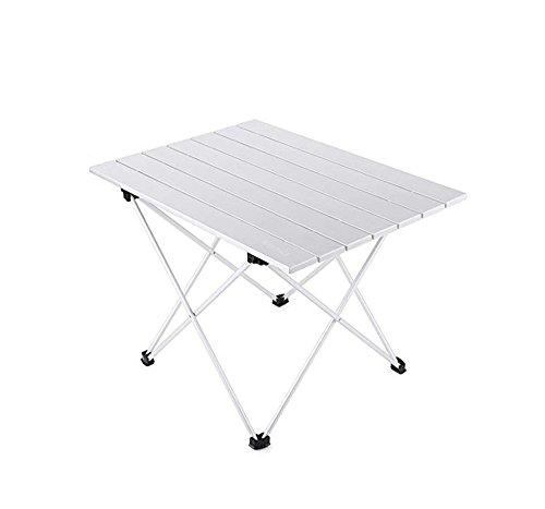 JFJL Table De Camping Pliante Pliante en Aluminium Roll Up 3 Taille avec Sac De Transport pour Pique-Nique Intérieur Et Extérieur, Barbecue, Plage, Randonnée, Voyage, Pêche,M
