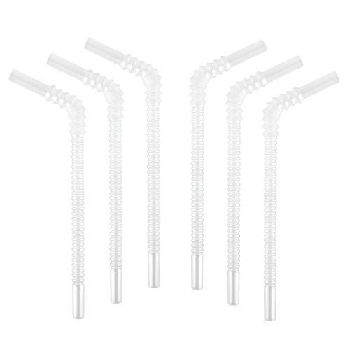 Re-Play Made in USA - 6pk of 8.7' Replacement Straws for Re-Play Straw Cups | Reversible - NO Pull Out Straight or Flexible Bend