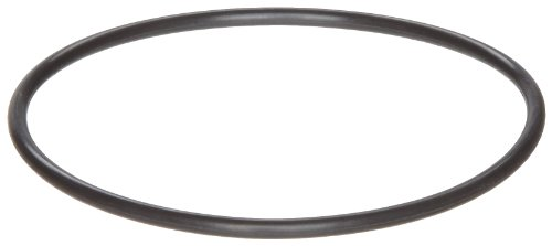 """258 Viton O-Ring, 90A Durometer, Round, Black, 6"""" ID, 6-1/4"""" OD, 1/8"""" Width (Pack of 2)"""