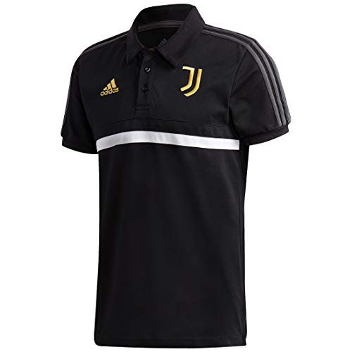 adidas Herren JUVE 3S Polo Shirt, Black/White/Pyrite, 2XL