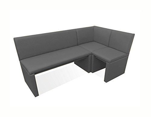SAM Family Gibson - Banco esquinero para comedor (260 cm, montaje flexible a izquierda y derecha, 260 cm de lado), color gris