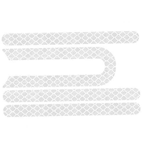 Rrunzfon Elektrischer Roller Reflektierender Aufkleber Radaufkleber Kompatibel mit Xiaomi M365 4 stücke Weiß Safe Zuverlässig in der Nacht