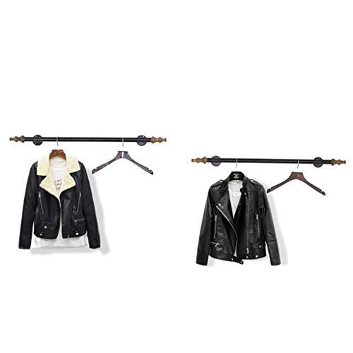 NA Houten Huishoudelijke Hangers, Wandhangers, Hout Donker Paars Kleding Racks/Display Stand/Wandplanken Rack, Wanddeur Terug Coat Rack