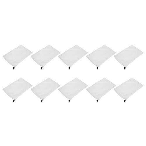 Mxzzand Calcetín de Filtro de Piscina Durable 10 Piezas Bolsa de Filtro de Espumadera Limpieza de Piscina para el hogar de la Piscina