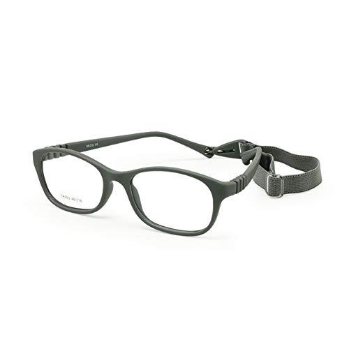 Gafas para niños con marco óptico y correa (talla 48, con cordón, sin tornillos, flexibles)