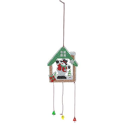 xiuginFU Campanula por número Kit de carillones de viento coloridos para bricolaje casa puerta ventanas decoración pared kits de pintura para adultos