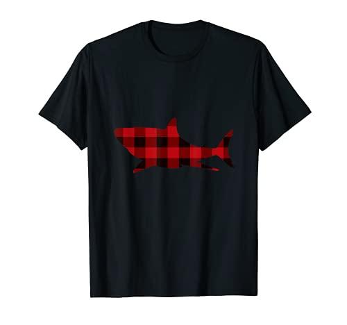 Pijama a juego de Navidad de la familia Buffallo de tiburón Camiseta