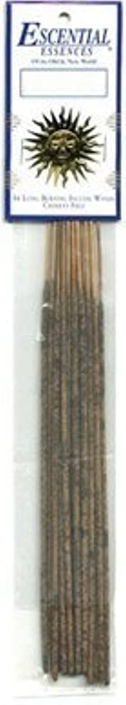 インチ飛び込むパターンEbony Opium - Escential Essences Incense - 16 Sticks [並行輸入品]