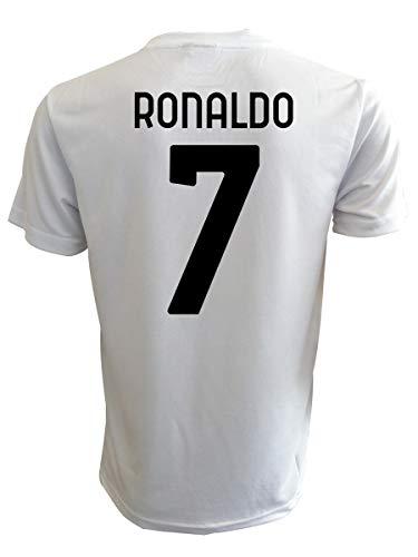 Maglia Ronaldo bianconera Ufficiale 2021 CR7 Cristiano 2020-2021 Adulto Ragazzo Bambino Home (6 Anni)