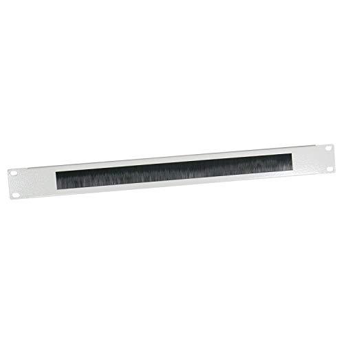 HMF 66489-07 Kabeldurchführung mit Bürsteneinsatz für Serverschrank 19 Zoll | lichtgrau