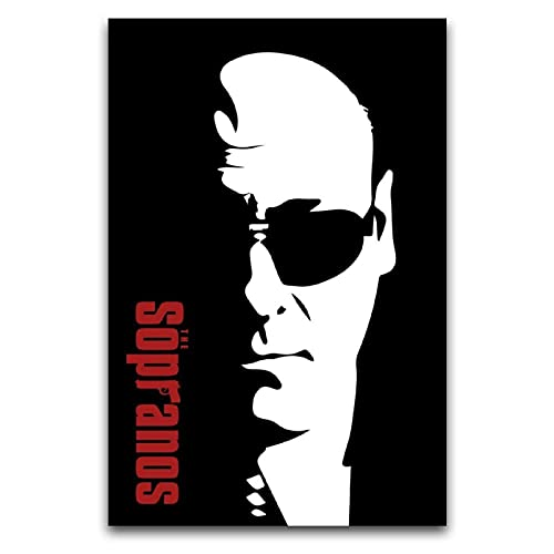 Tony Soprano Sunglasses Poster Decorative Painting Canvas Mural Living Room Poster Bedroom Painting 12'×18'(30*45cm)