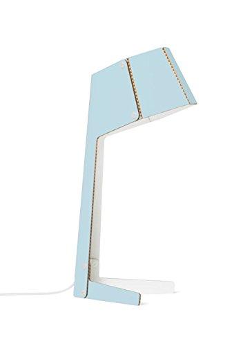 ANDBROS - Lámpara de escritorio (cartón, modelo n.º 3), color azul