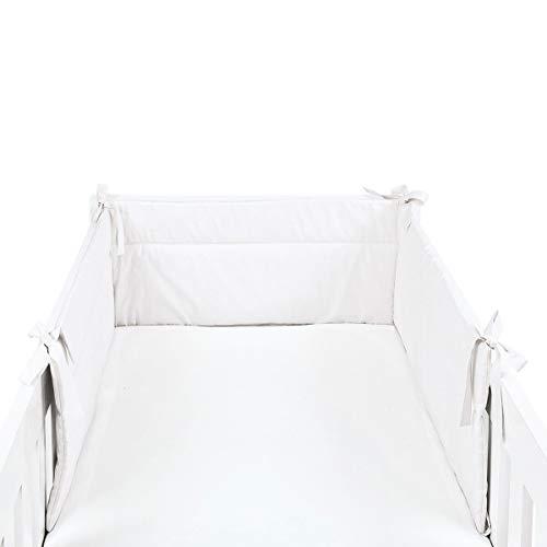 BORNINO HOME Tour de lit X-Large 32 x 210 cm tour de lit tour de lit bébé, blanc