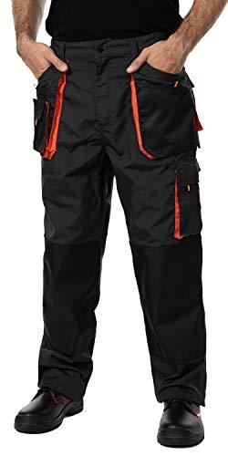 MAZALAT work wear Pantalones de Trabajo para Hombre, Pantalon de Seguridad, Pantalones de Proteccion, Ropa Hombre, Bolsillos Multiusos, S - 3XL, con Rodilleras Trabajo. Resistente 48