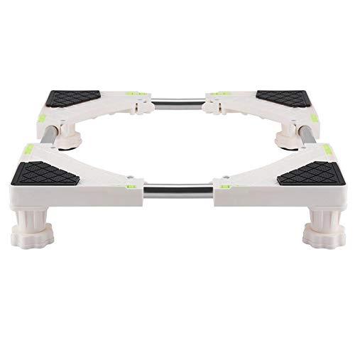 Aramox Base Ajustable Multifuncional, Soporte de Soporte de la Base de la máquina Soporte del refrigerador para secadoras, cocinas, frigoríficos, congeladores (4 pies / 8 pies)(4 Feet)