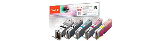 Peach Spar Pack Tintenpatronen XL kompatibel zu Canon PGI-570XL, CLI-571XL