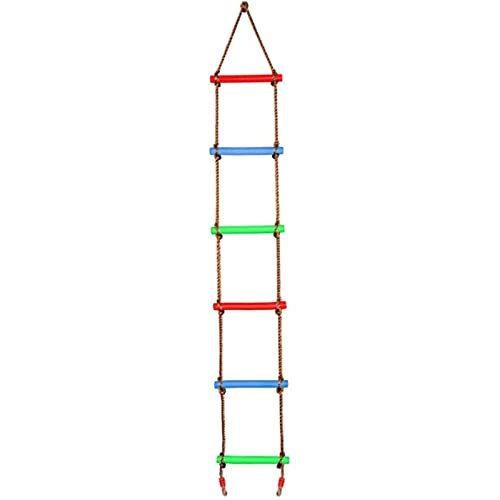 ZZSQ Kletterseilleiter Ninja Leiter Für Kinder - Ninja Warrior Hindernisparcours Zubehör Für Kinder - Ninja Slackline Leiter, Spielplatz Ninja Obstacles Swing Rope Ladder