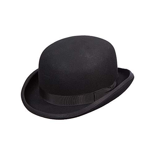 Scala Classico Men's Wool Felt Bowler Hat, Black, Medium