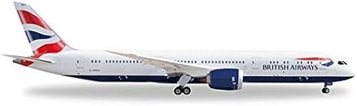 servicio de primera clase Herpa-Wings HE528948 British Airways Airways Airways 787-9 1 500 Model Airplane  bienvenido a elegir