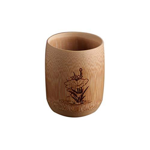 ATYBO Bicchieri di Birra Bicchiere di caffè bambù Naturale Tazza da tè Isolato Bicchiere da Vino Vino Cucina Servizio da tè Cinese in Legno Vintage