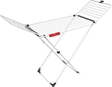 Tendedero Extra Varillas XXL - Tendedero plegable de acero y aluminio, con ruedas y varillas extra gruesas