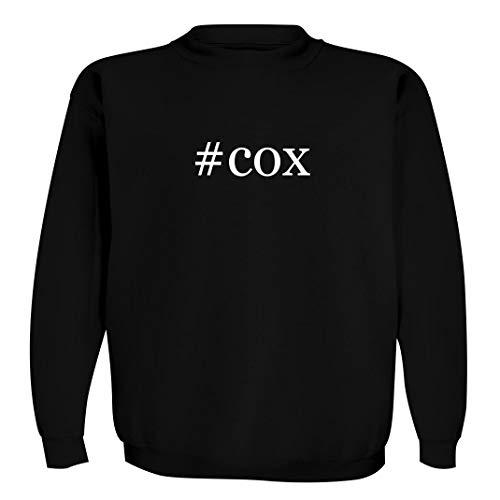 #cox - Men's Hashtag Crewneck Sweatshirt, Black, Small