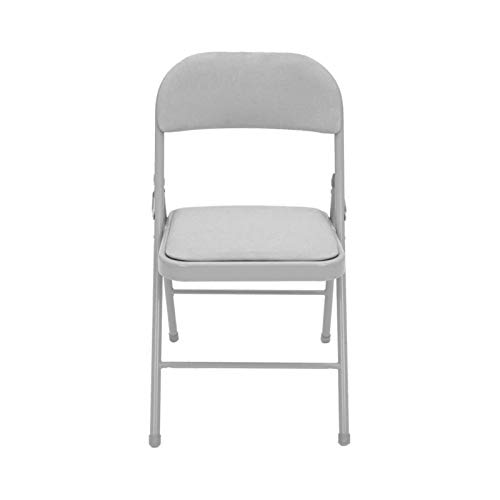 Youyijia Folding Frame Padded Back Rest Chair 39 * 48 * 78cm Strong Metal Padded Folding Chair for Home Garden Office Computer Desk