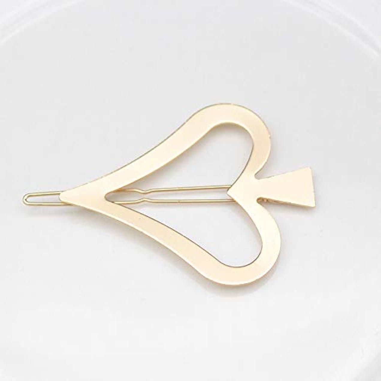 反発する無しお祝いHuaQingPiJu-JP 1Pc DIYマジックヘア女性ガールヘアピンヘアクリップパーティーヘアスタイルツールアクセサリー(ゴールド)
