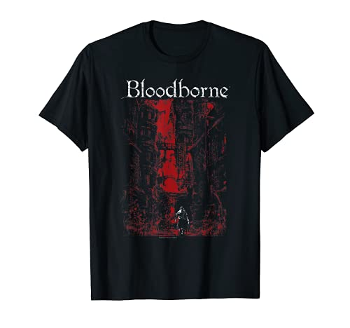 Bloodborne Red City Background T-shirt T-Shirt