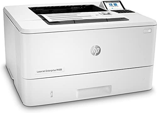 HP LaserJet Enterprise M406dn 3PZ15A, Impresora A4 Monofunción Monocromo, Impresión a Doble Cara Automática, Gigabit Ethernet, USB 2.0, HP Smart App, Pantalla Gráfica en Color, Blanca