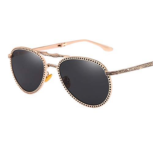 COCKE Gafas de Sol polarizadas para Conducir, Gafas de Sol polarizadas de Tonos clásicos Unisex,Negro