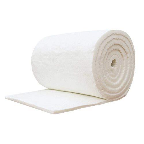 Nuevo Manta Fibra Ceramica 60cm x 10cm Manta ignífuga de algodón y Fibra de cerámica para Estufas de Madera y Chimenea, Blanco Estufa Bioetanol Chimenea Bioetanol Envio 24H